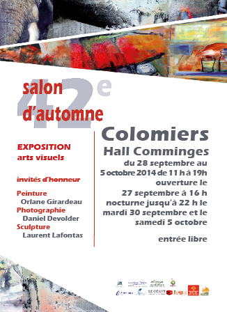 Flyer du 42ème salon d'automne de Colomiers