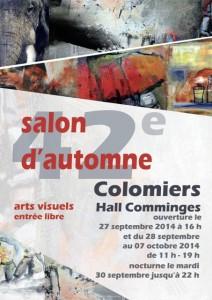 Affiche du 42ème salon d'automne de Colomiers - du 27 septembre au 7 octobre 2014