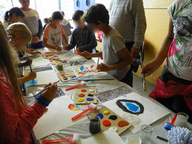 Atelier avec les enfants des écoles de Colomiers