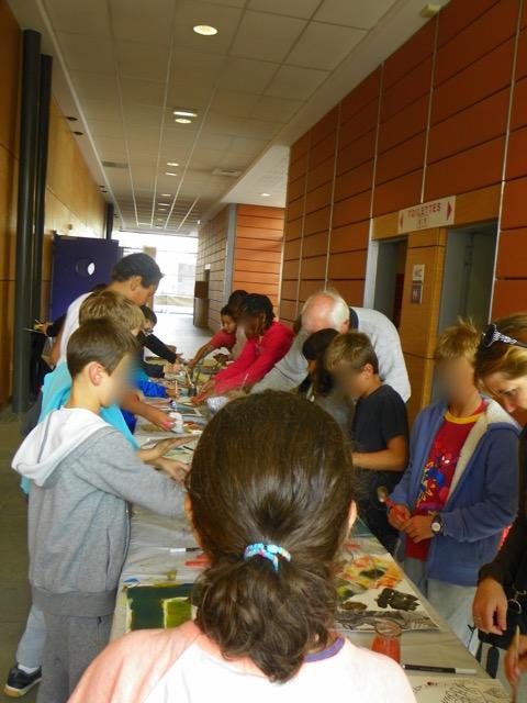 Ateliers avec les élèves des écoles de Colomiers