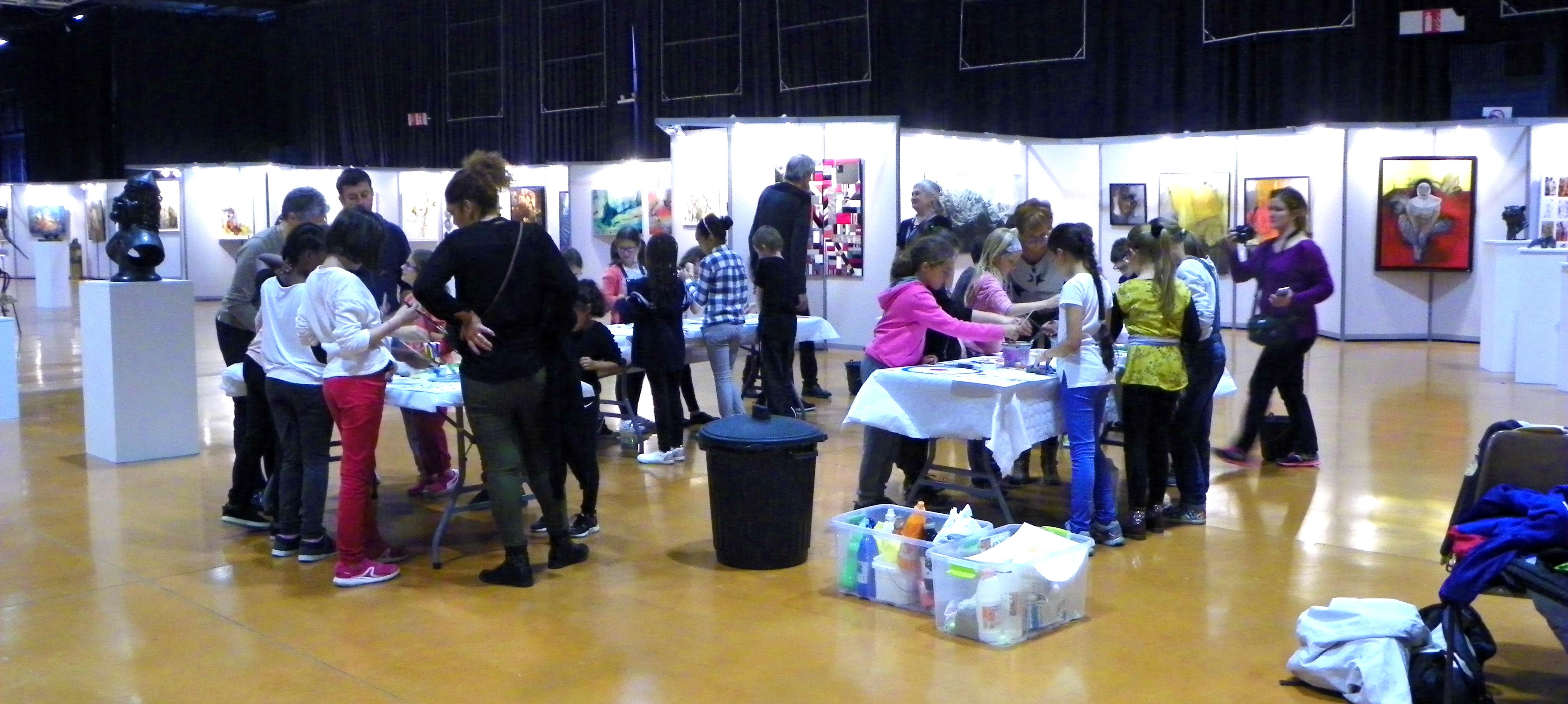 Ateliers avec les enfants au 45ème salon d'automne de Colomiers