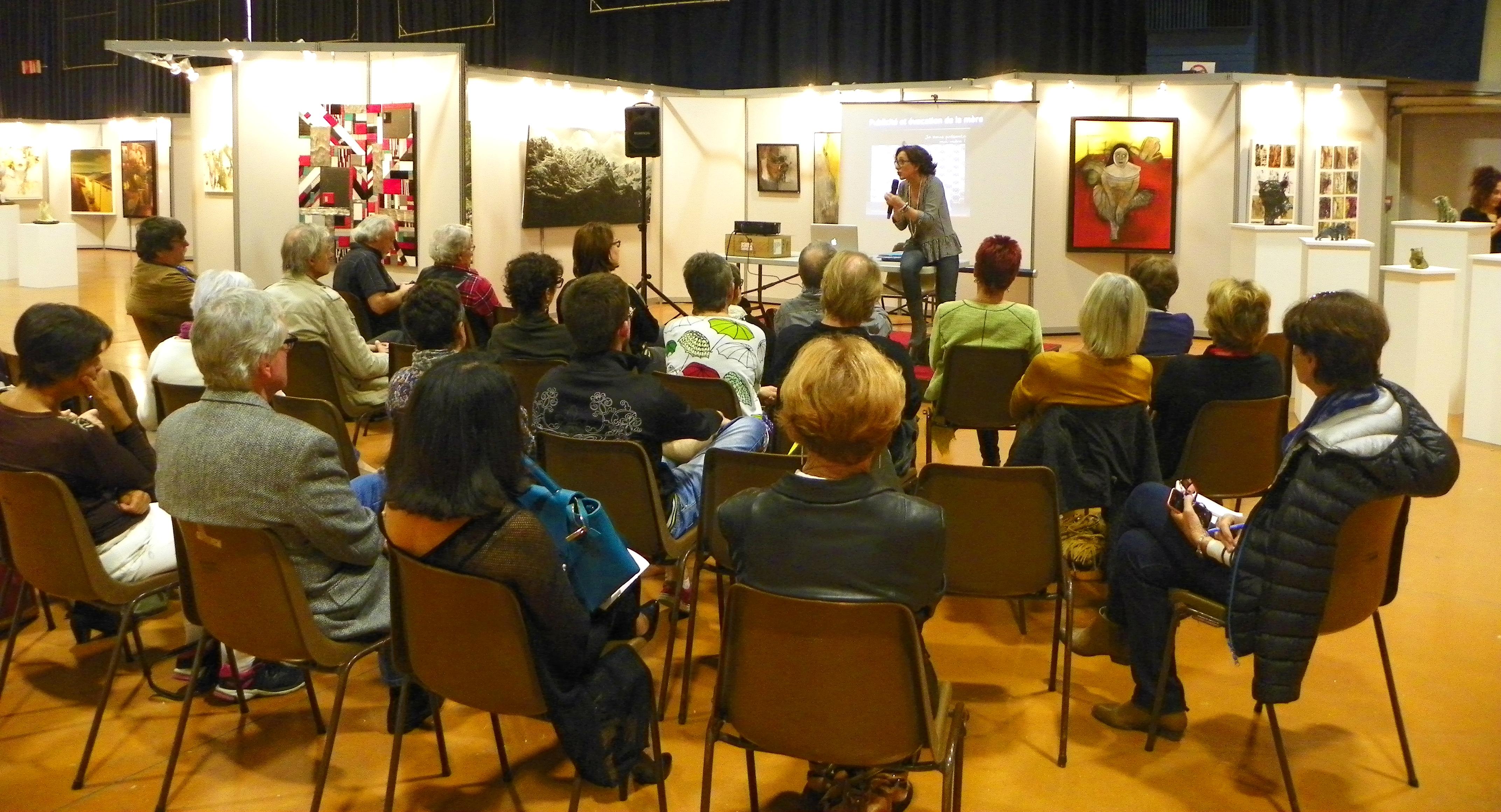 Conférence animée par Cosa Dhers 45ème salon d'automne de Colomiers