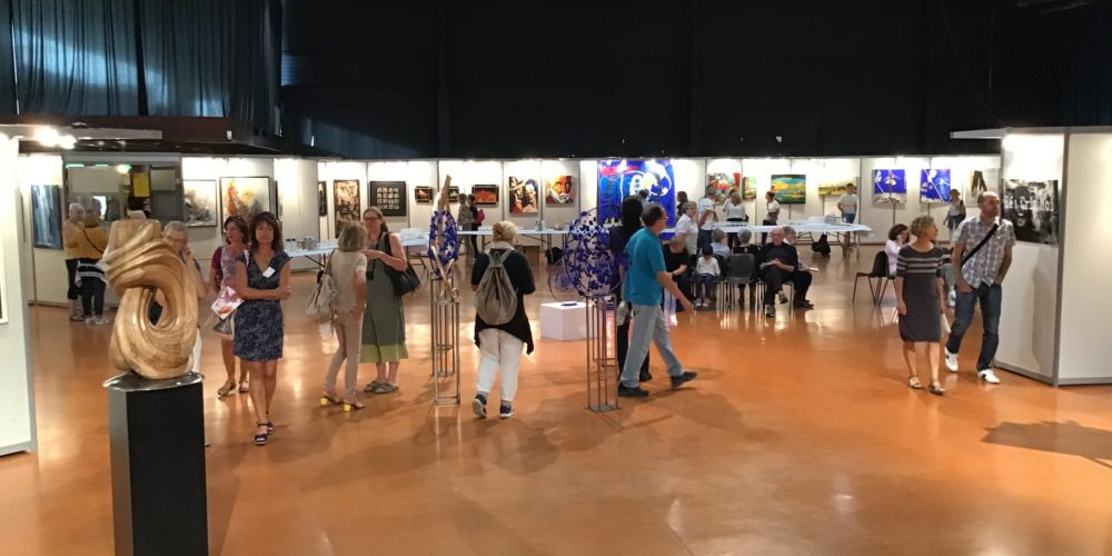 Démonstration d'artistes - art Colomiers expo